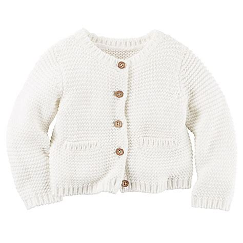 Kaos Carters Size 9 M buy s 174 size 9m purl knit button front cardigan in white from bed bath beyond