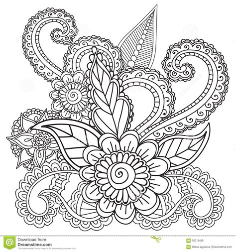 mehndi designs coloring book coloring pages