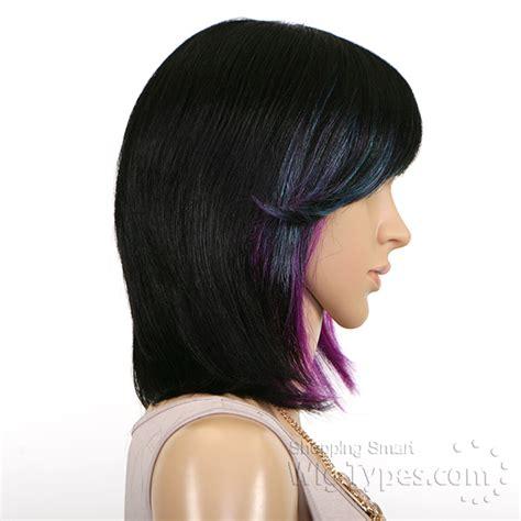utube bump hair in a bob sensationnel 100 human hair bump wig chic bob
