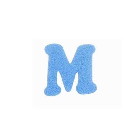 lettere m e scrap lettre m bleue feutrine