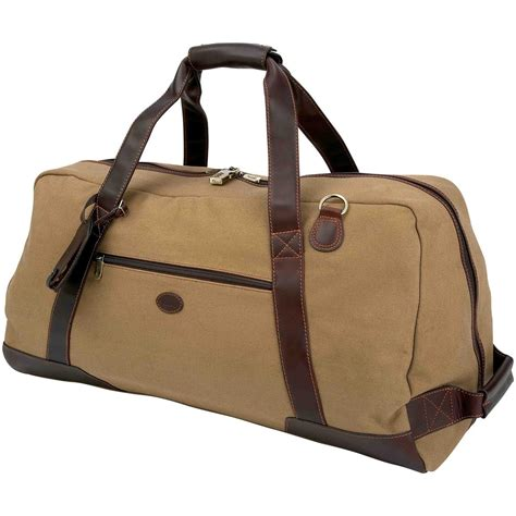 baron country 174 large canvas leather duffel bag 209109