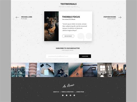 layout instagram feed testimonials section instagram feed and footer de siteup
