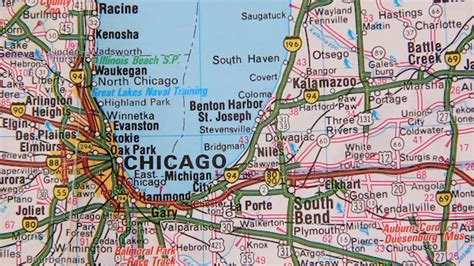 topographical map of the usa chicago cleveland by