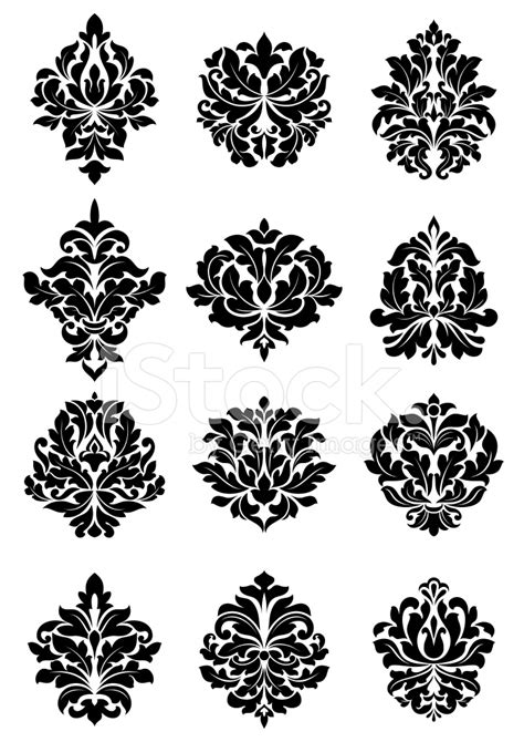 pattern vector motifs bold floral arabesque motifs stock vector freeimages com