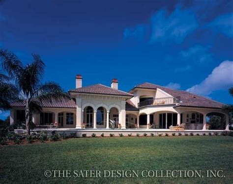 dan sater luxury homes home plan dauphino sater design collection