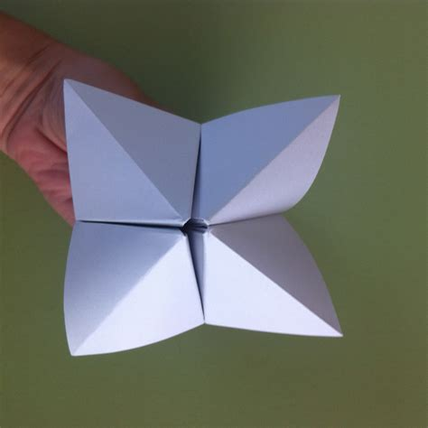 Folding A Fortune Teller Paper - let s play a fortune telling longagoand ohsofaraway