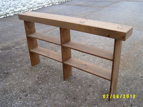 narrow foyer bench wooden console sofa table entryway table by wayneswoodworking