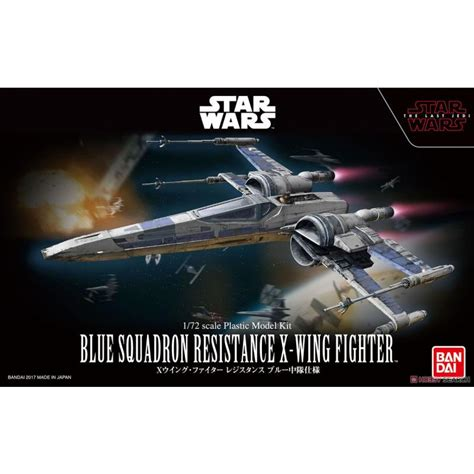 Wars Blue Squadron Resistance X Wing Fighter Bandai wars 1 72 blue squadron resistance x wing fighter