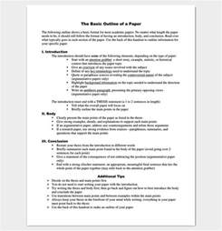 Different Outline Formats by Research Paper Outline Template 36 Exles Formats Sles