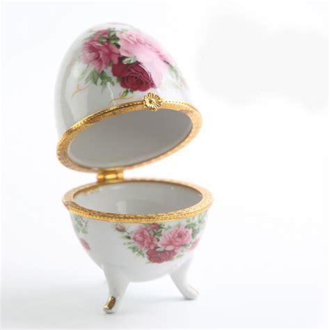jingdezhen ceramic ceramic jewelry box egg shaped