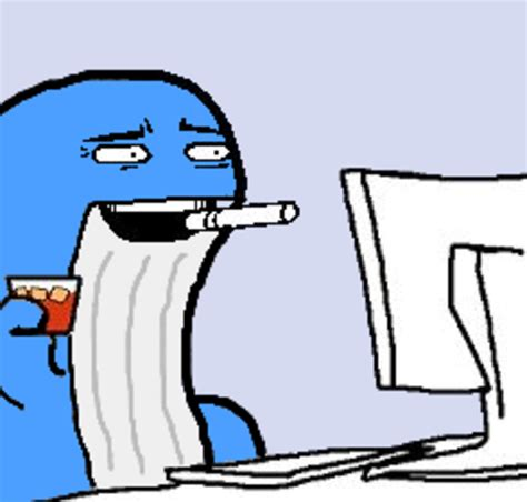 Shocked Computer Meme - computer reaction face meme