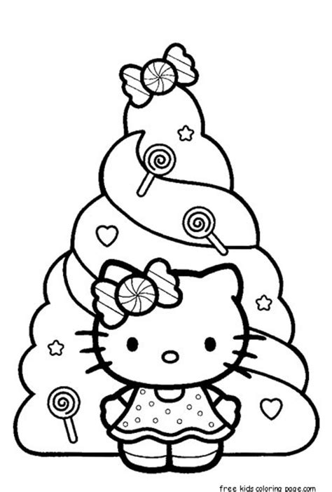 hello kitty new year coloring pages christmas hello kitty coloring pages free printfree