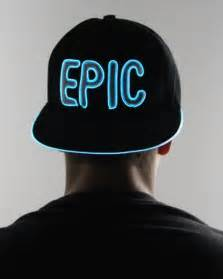 light up hats light up hat epic snapback new years