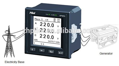 Pilot L With Voltage Display pilot spm33 lcd display harmonic with rs485 communication