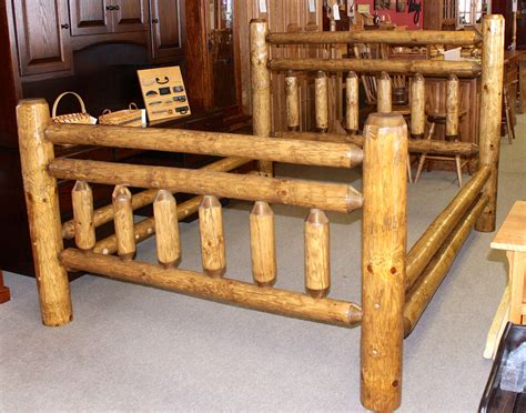 rustic log beds custom log design midwest log furniture rustic log bed