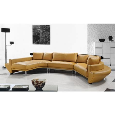 Jupiter Sectional Sofa by Jupiter Mustard Leather Sectional Sofa