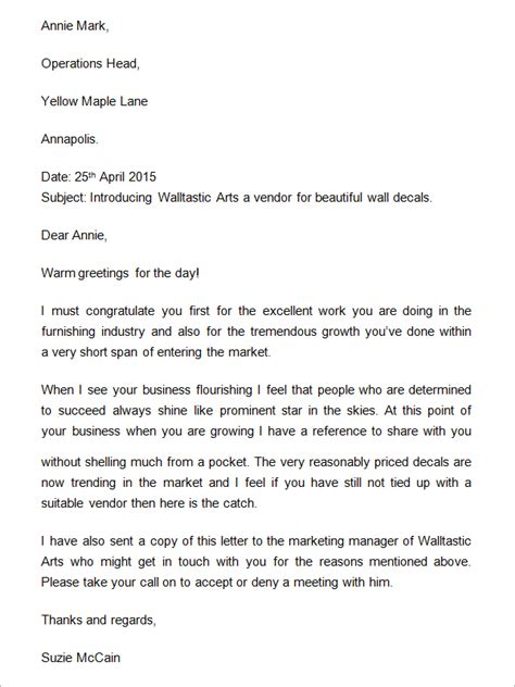 business introduction letter template uk business letter