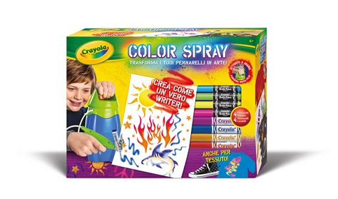 color spray crayola 04 8733 color spray aerografo it giochi