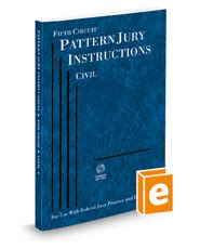 pattern jury instructions 5th circuit fifth circuit pattern jury instructions legal solutions