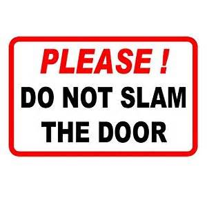 do not slam the door taxi sticker co