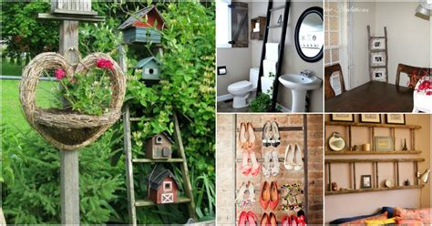 vintage this repurpose that 40 wooden ladder repurposing ideas that add farmhouse