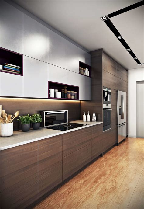 modern home interior design kitchen kitchen interior 3d rendering for a modern design archicgi