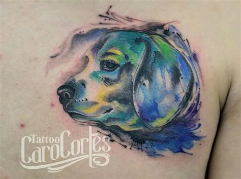 watercolor tattoo of dog watercolor best design ideas