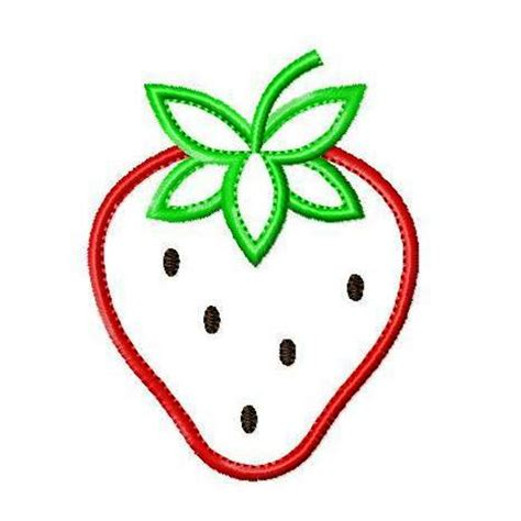 embroidery applique image gallery strawberry applique