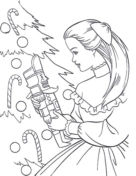 barbie coloring pages barbie christmas coloring picture