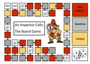 an inspector calls themes resources an inspector calls revision board game by yellow1c
