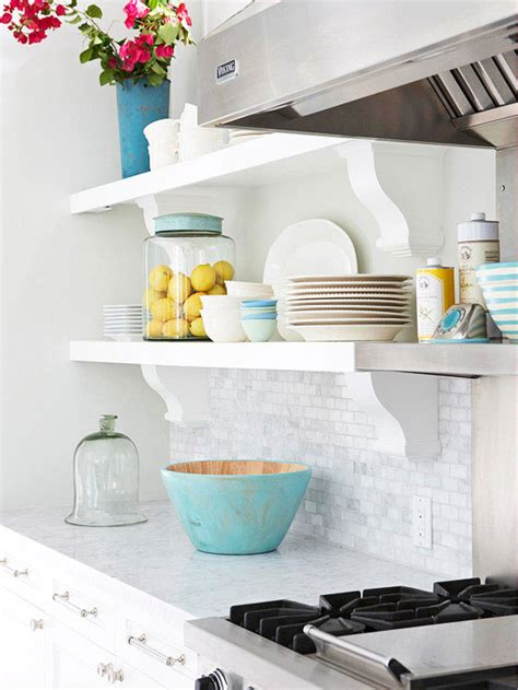 white kitchen shelves open kitchen shelving tips and inspiration
