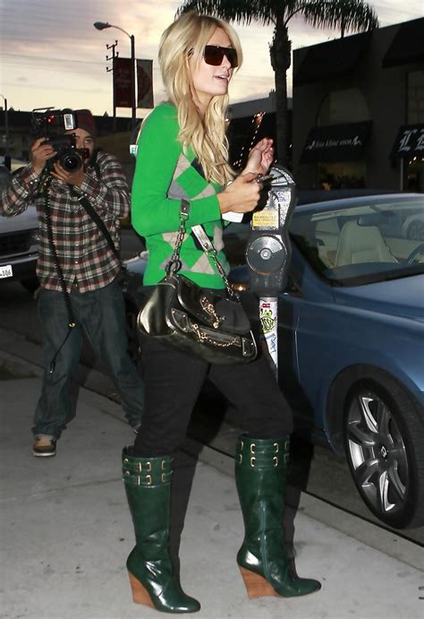 Paris Hilton Wedge Boots   Paris Hilton Looks   StyleBistro