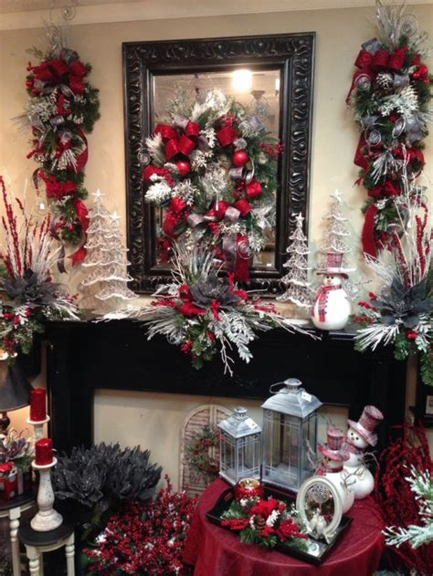 27 Cozy Red And Grey Christmas Décor Ideas   DigsDigs