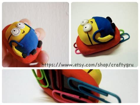 Minion Desk Accessories Unique Ooak Minion Desk Accessory Despicable Me