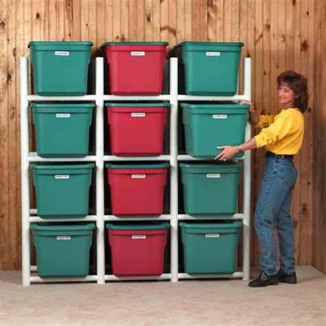 bin warehouse 12 tote storage system 69 quot h 4 shelf