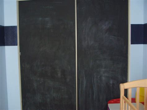 Chalkboard Sliding Closet Doors The Crowd 187 Decorating With Chalkboard Paint