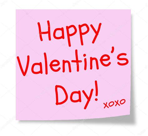 happy valentines day words happy s day pink sticky note stock photo