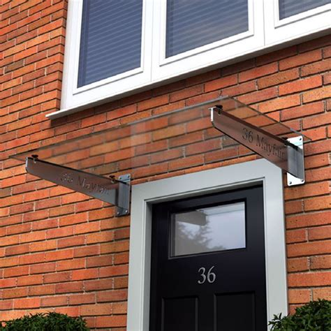 Exterior Door Canopies Door Canopy With Steel Brackets And Glass Top Type G Organiskaas Formas Door