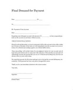 Loan Demand Letter Format Sle Demand Letter 7 Documents In Pdf Word