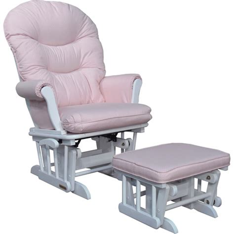 pink glider and ottoman shermag richmond deluxe sleigh glider rocker and ottoman