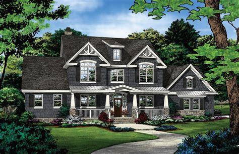 house plan family friendly farmhouse  modern features