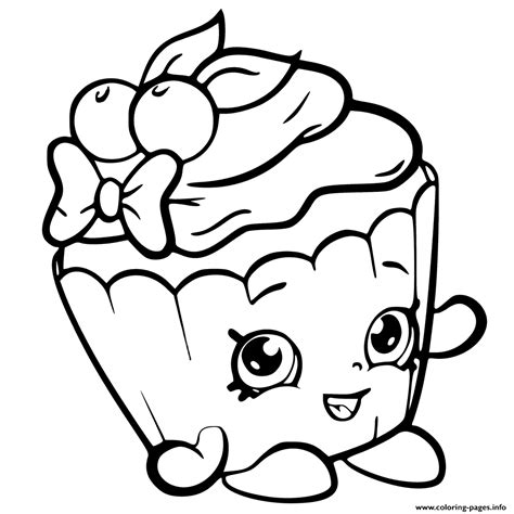 shopkins chocolate coloring page print cherry nice cupcake from shopkins season 6 coloring