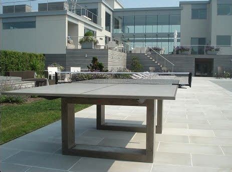 outdoor table tennis dining table modern concrete steel ping pong table doubles as indoor