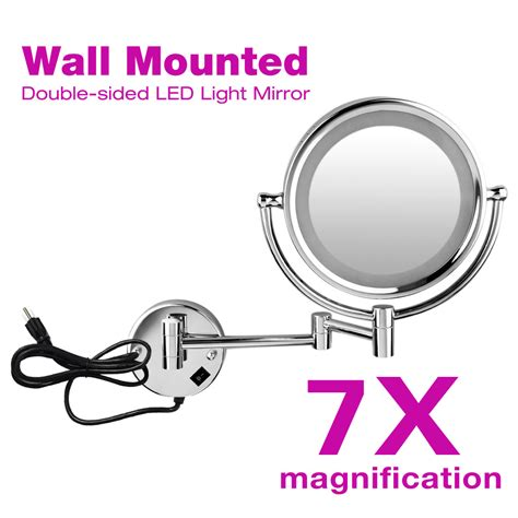 magnifying mirror for bathroom wall makeup cosmetic mirror 7x magnifying lighted swivel stand