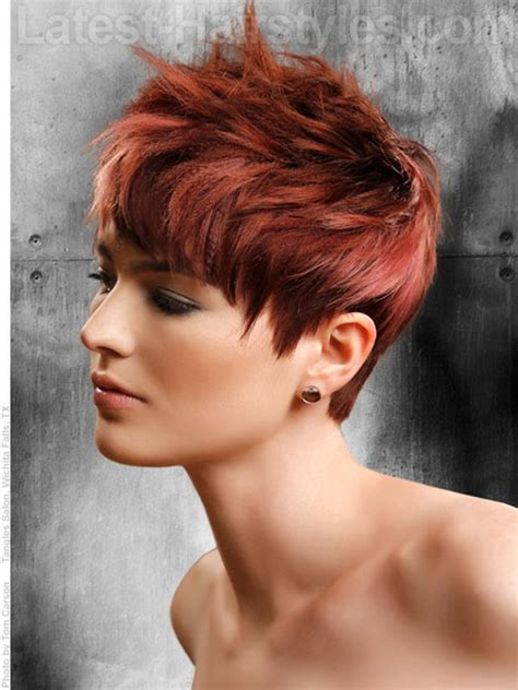 pixie hairstyles using wax short red hairstyles for women