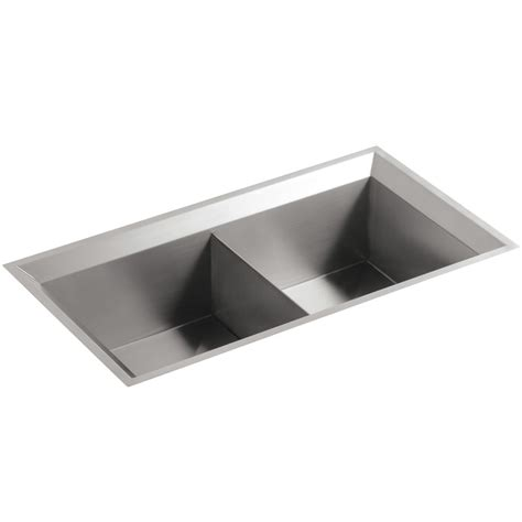 kohler poise stainless steel bowl kitchen sink