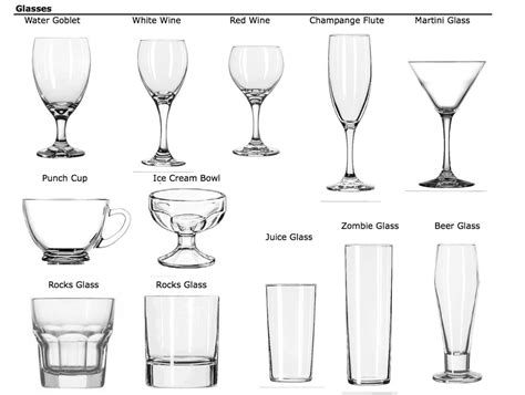 types of barware bar glassware types 28 images glasses for wine