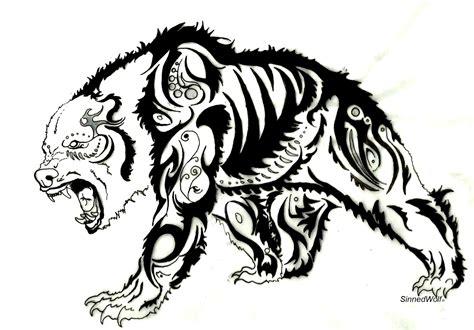 tribal polar bear tattoo tribal