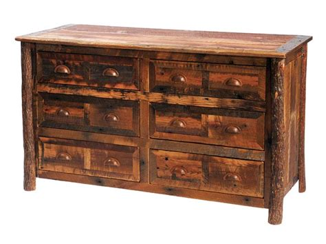 barnwood 6 drawer dresser western bedroom furniture free