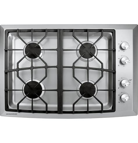 Ge Monogram 30 Gas Cooktop monogram 30 quot stainless steel gas cooktop gas